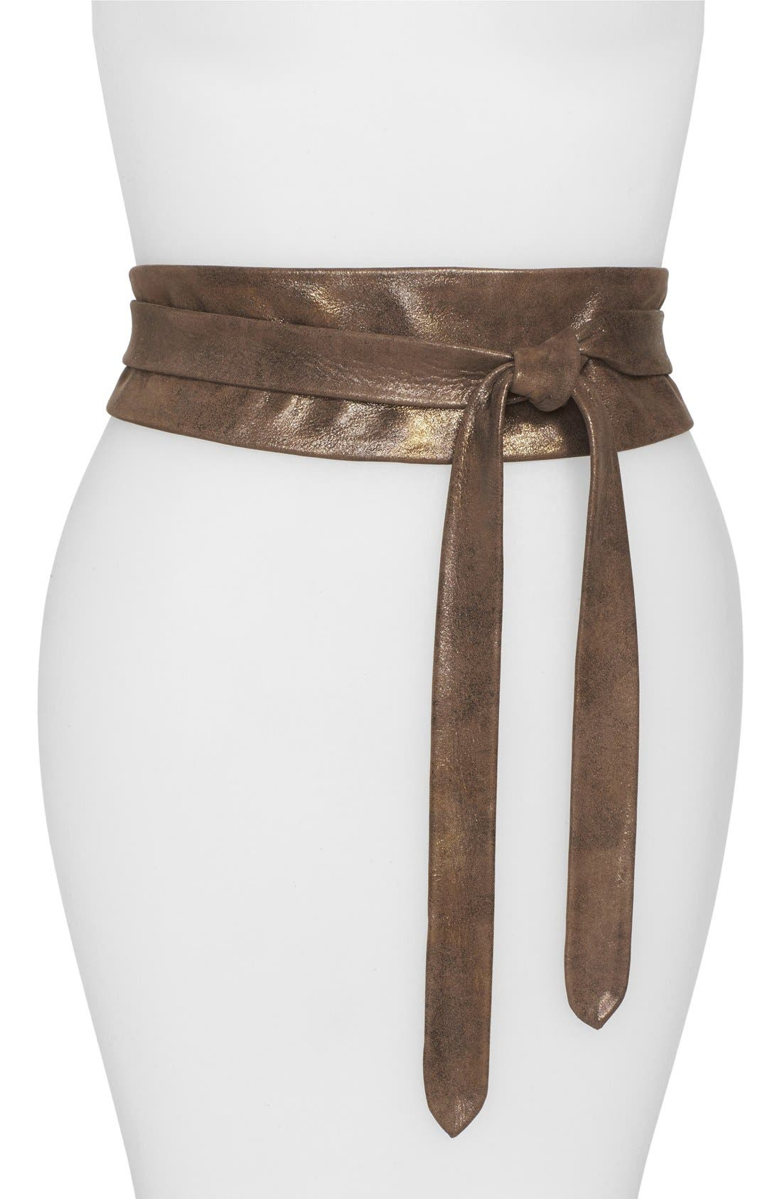Main Image - Ada 'Obi' Leather Wrap Belt