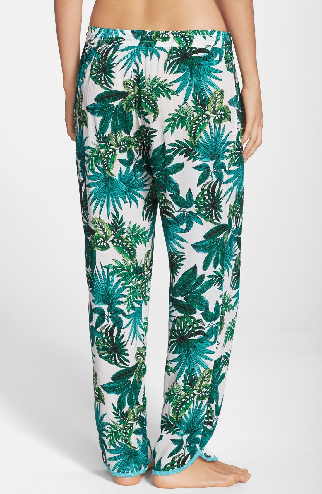 Alternate Image 2  - PJ Salvage 'Challe' Lace Trim Woven Lounge Pants (Nordstrom Exclusive)