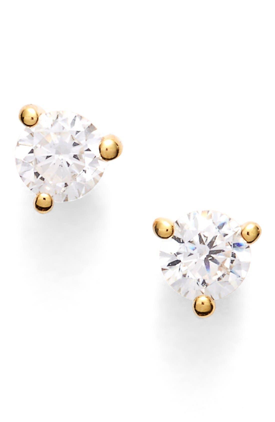 Nordstrom Precious Metal Plated 0.25ct tw Cubic Zirconia Stud Earrings