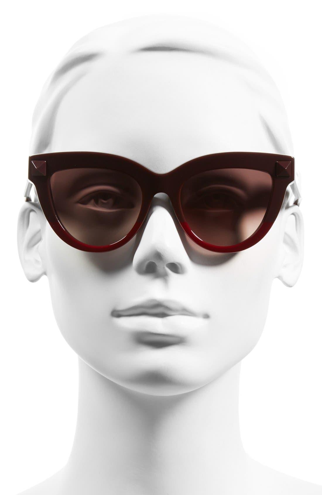 Alternate Image 2  - Valentino 'Rockstud' 51mm Cat Eye Sunglasses