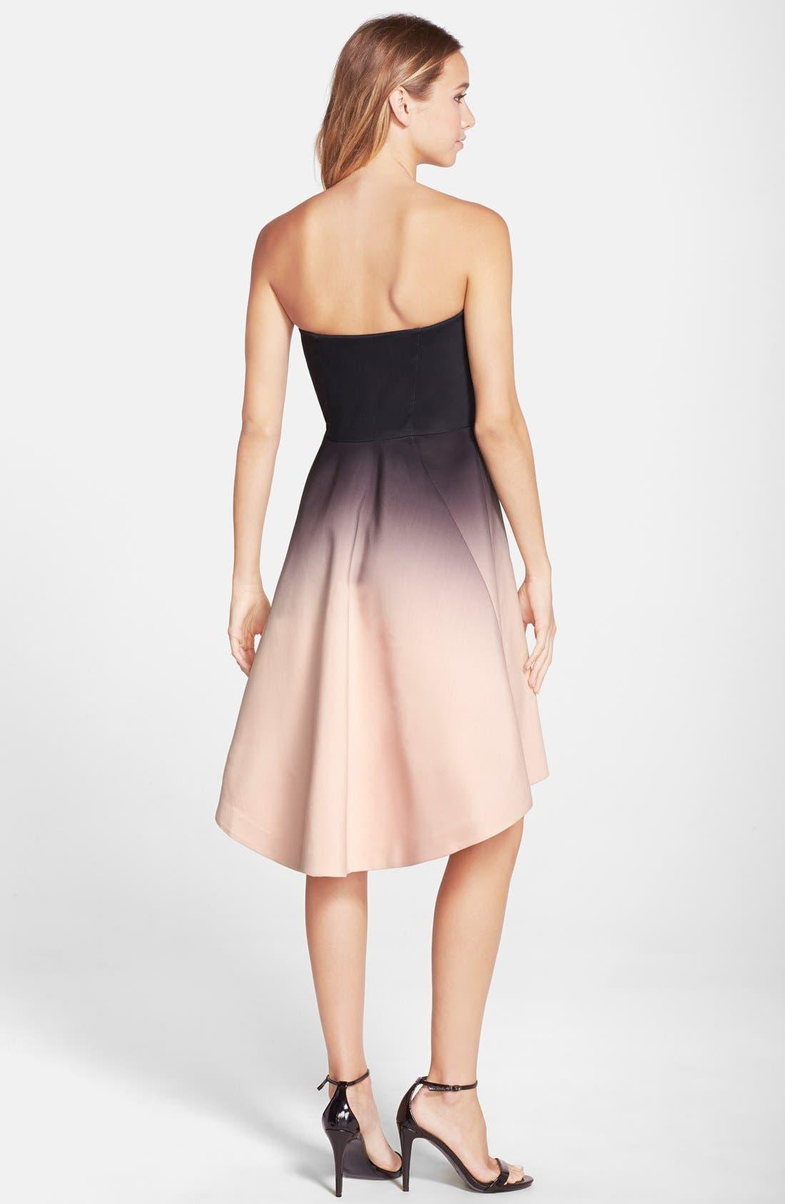 Alternate Image 2  - Halston Heritage Ombré Strapless Dress