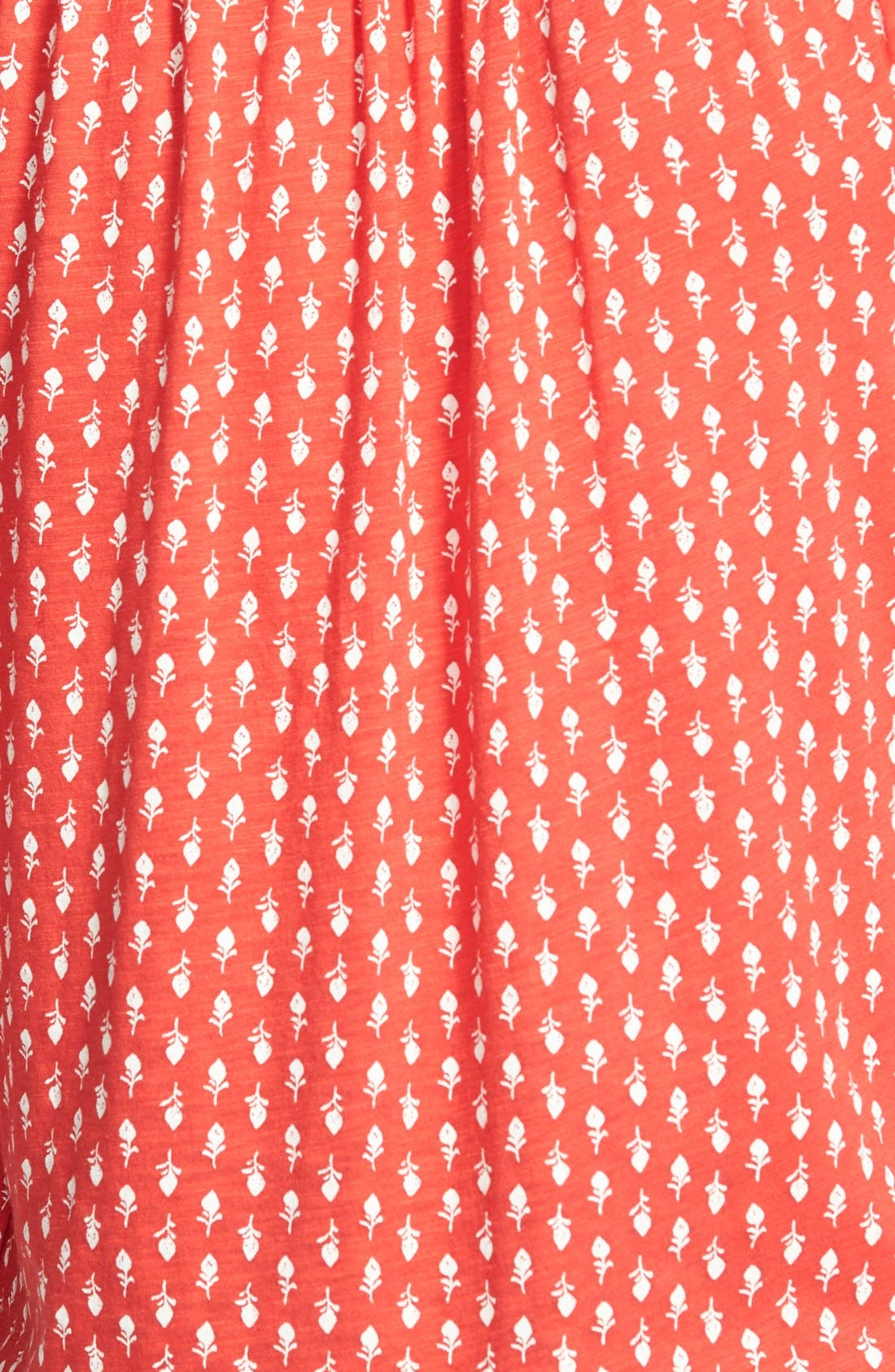 Alternate Image 3  - Lucky Brand Woodstamp Print Split Neck Top