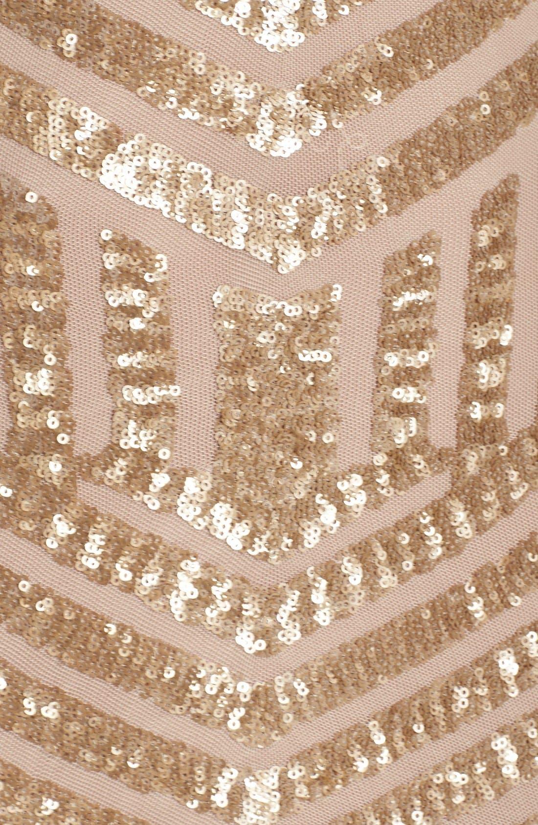Alternate Image 4  - Dress the Population Lola Sequin Body-Con Dress
