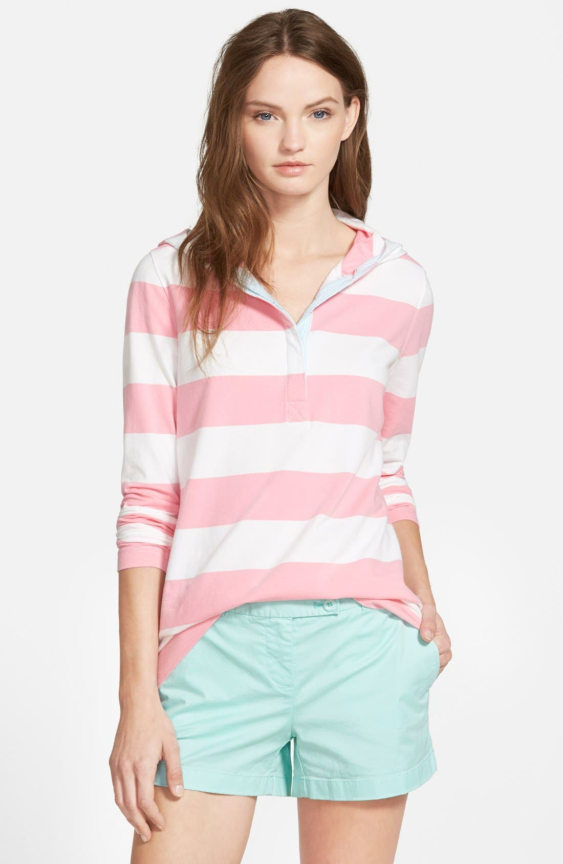 Alternate Image 1 Selected - Vineyard Vines Rugby Stripe Hoodie