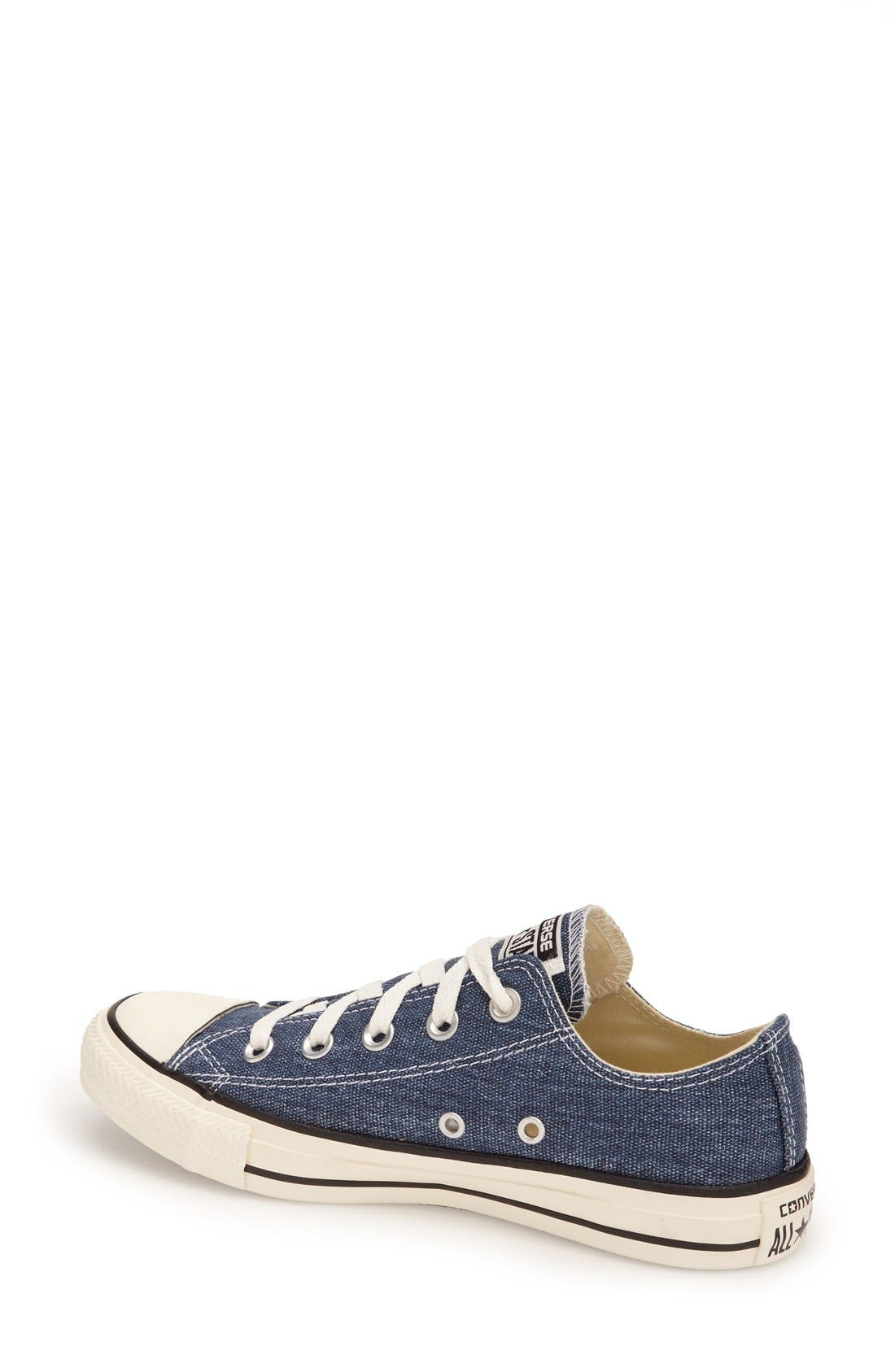 Alternate Image 2  - Converse Chuck Taylor® All Star® Washed Canvas 'Ox' Sneaker (Women)