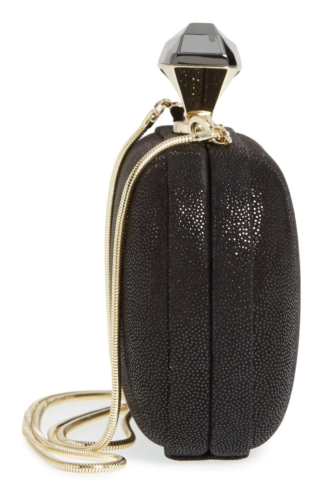 Alternate Image 5  - Diane von Furstenberg 'Powerstone Sparkle Caviar' Leather Minaudiere