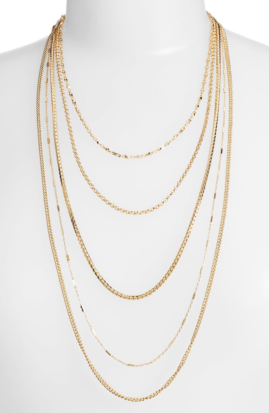 Alternate Image 1 Selected - Nordstrom Long Multistrand Necklace