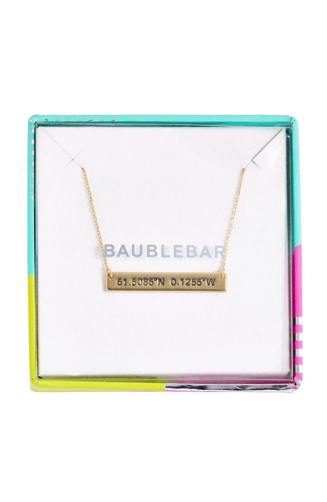 Alternate Image 3  - BaubleBar Coordinate Bar Pendant Necklace