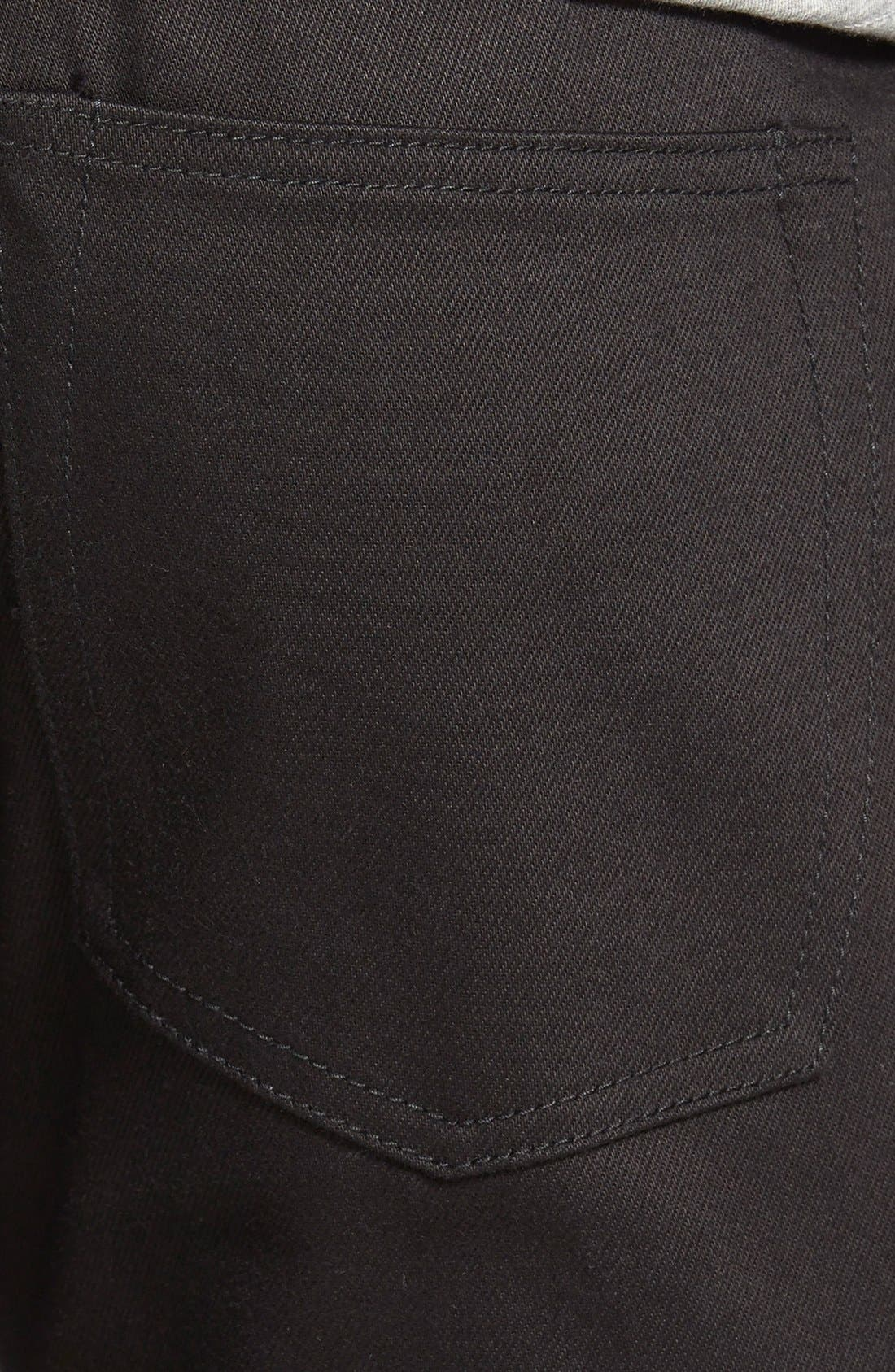 Alternate Image 4  - The Unbranded Brand 'UB255' Slim Tapered Fit Raw Selvedge Jeans (Black Selvedge)
