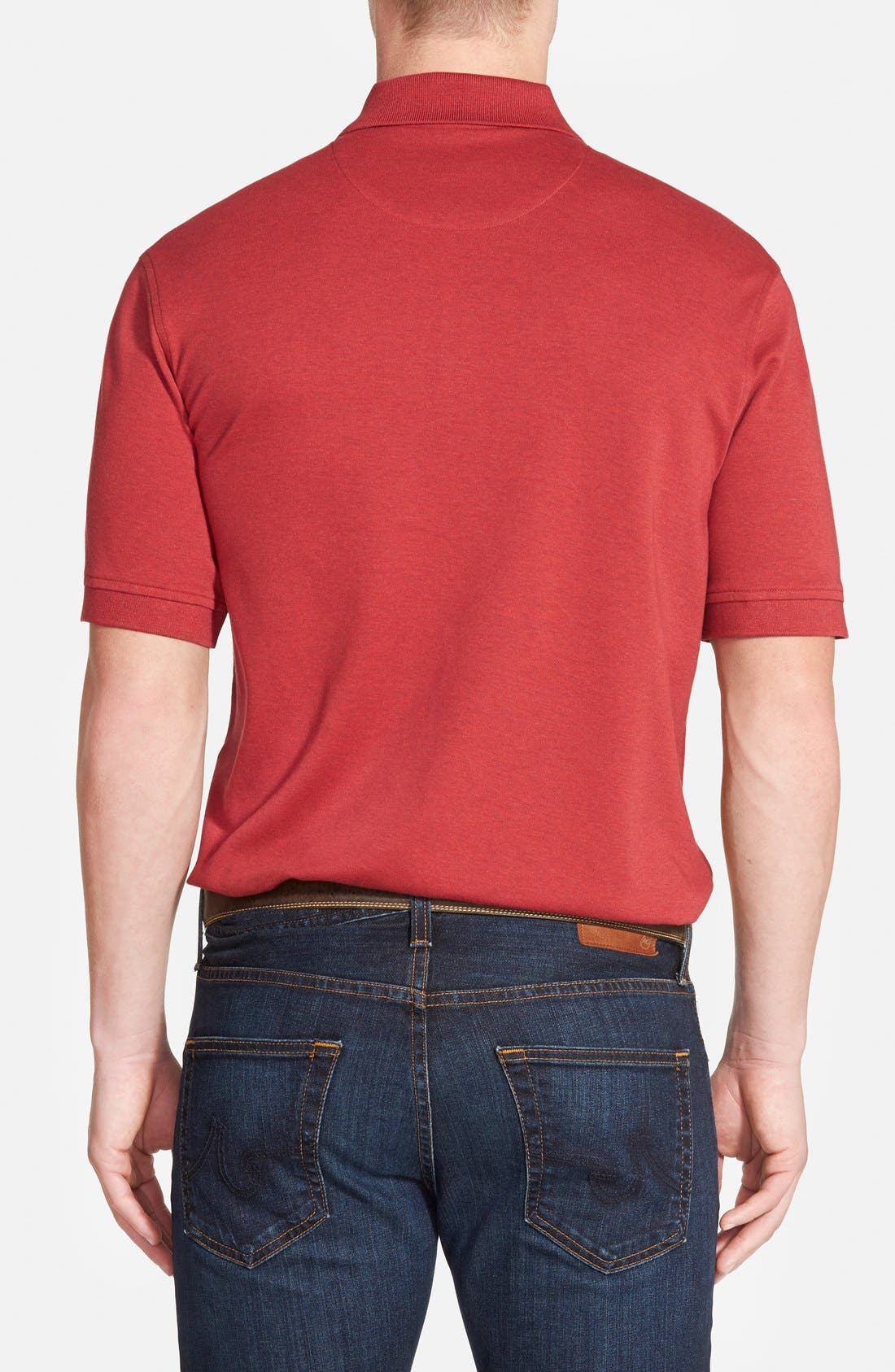 Alternate Image 2  - Nordstrom Men's Shop Regular Fit Interlock Knit Polo
