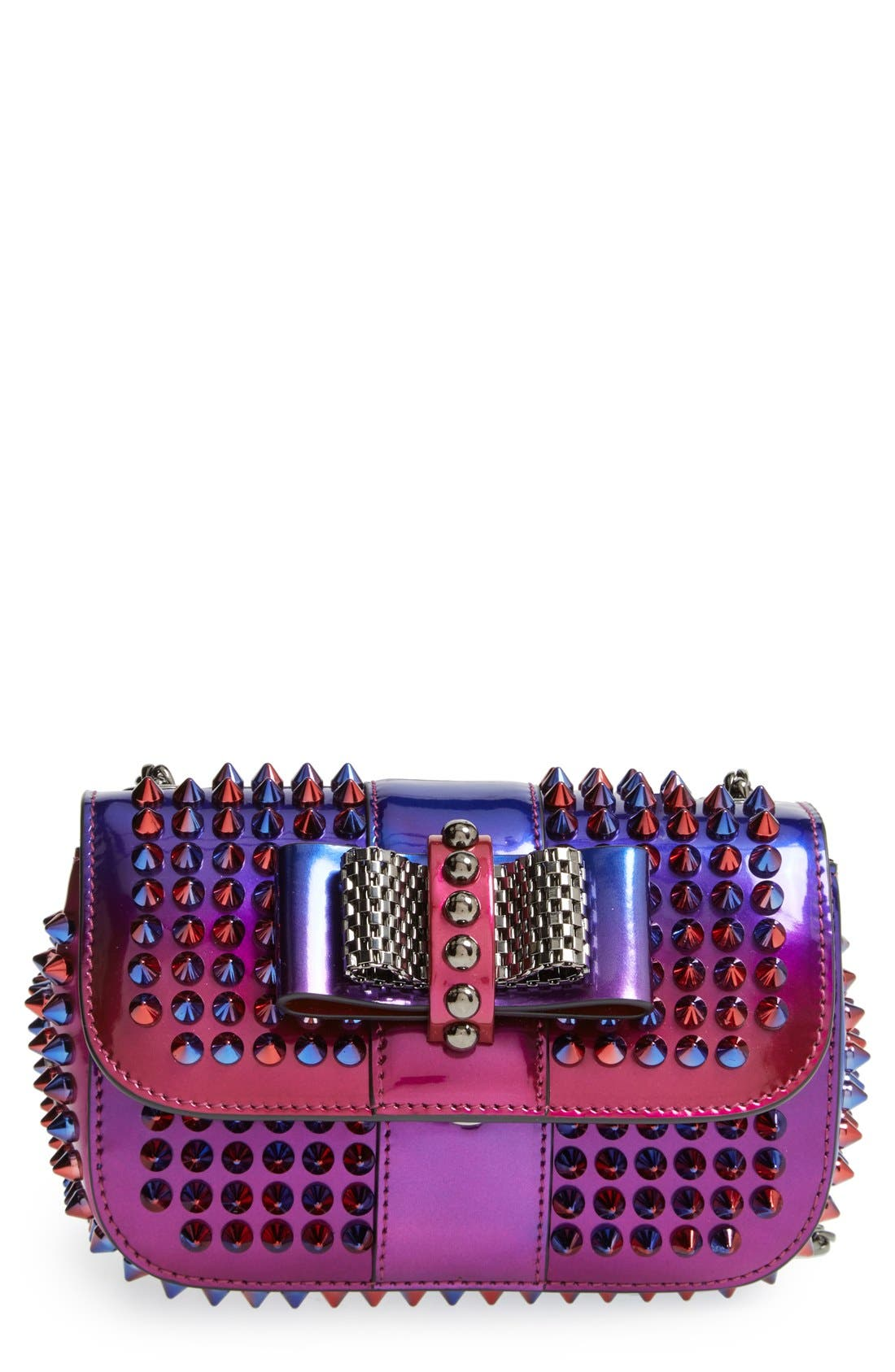 Main Image - Christian Louboutin 'Sweety Charity Scarab Spike' Patent Leather Clutch