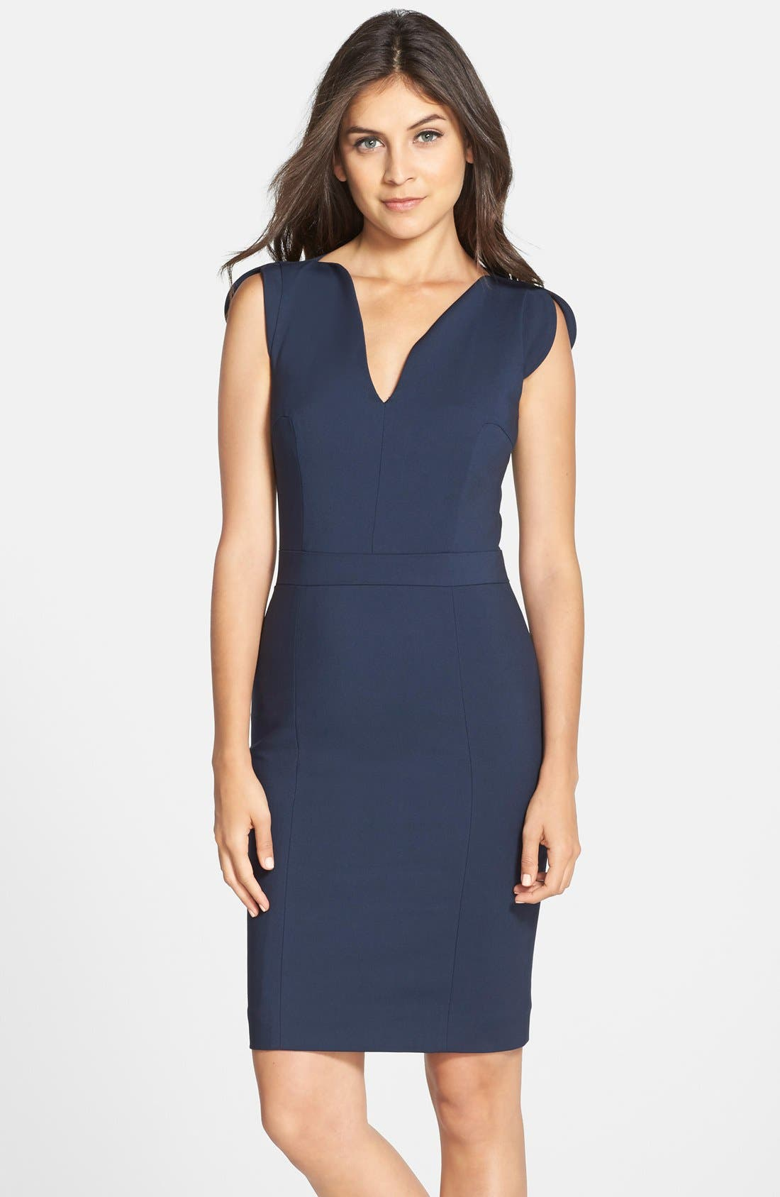 Alternate Image 1 Selected - French Connection 'Lolo' Split Neck Sheath Dress