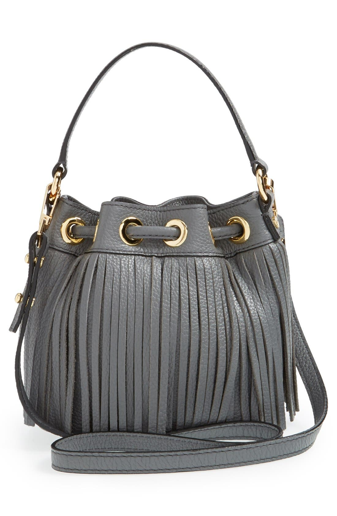Alternate Image 3  - Milly 'Small Essex' Fringed Leather Drawstring Bag