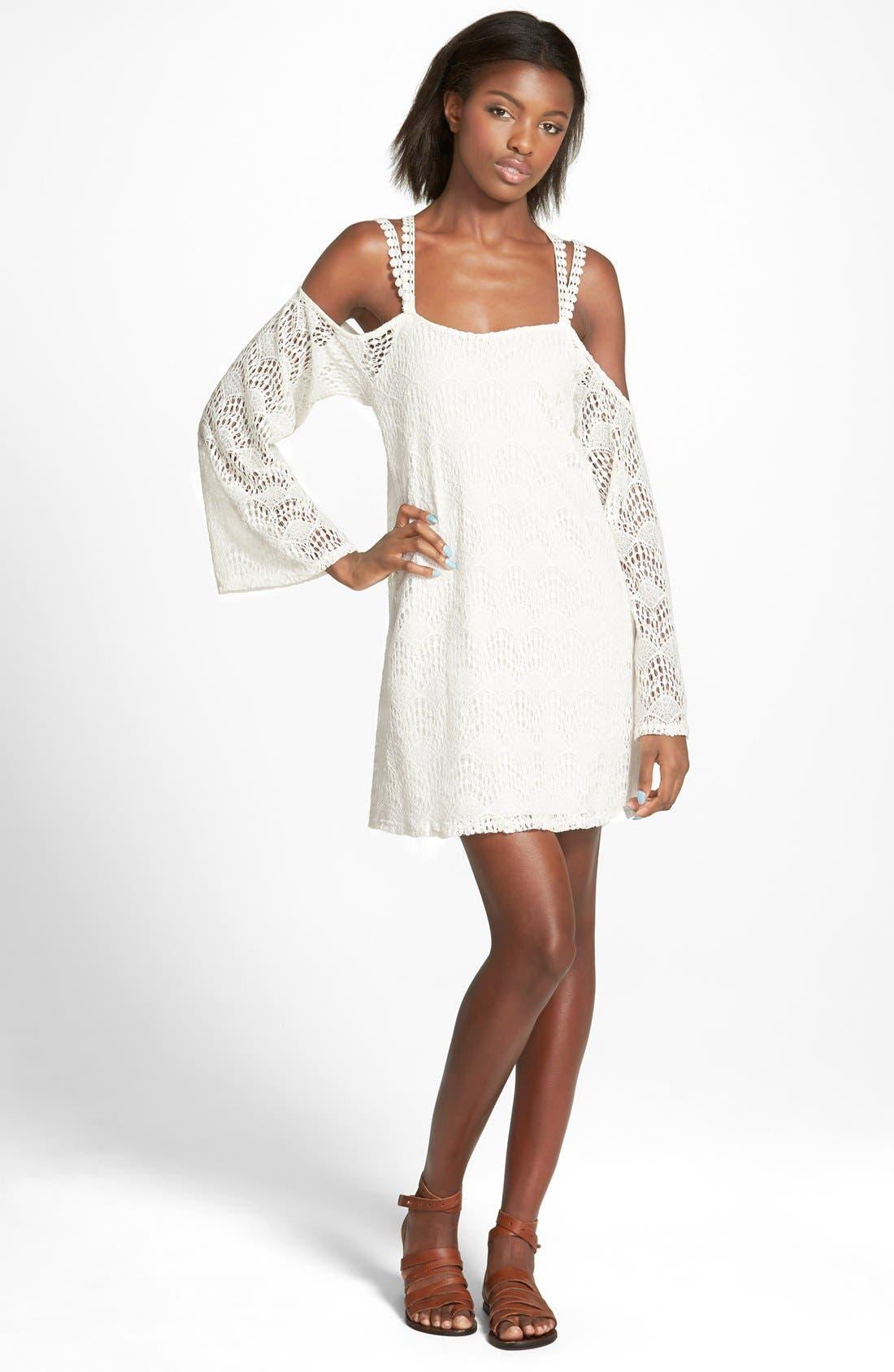 Main Image - dee elle Lace Cold Shoulder Dress