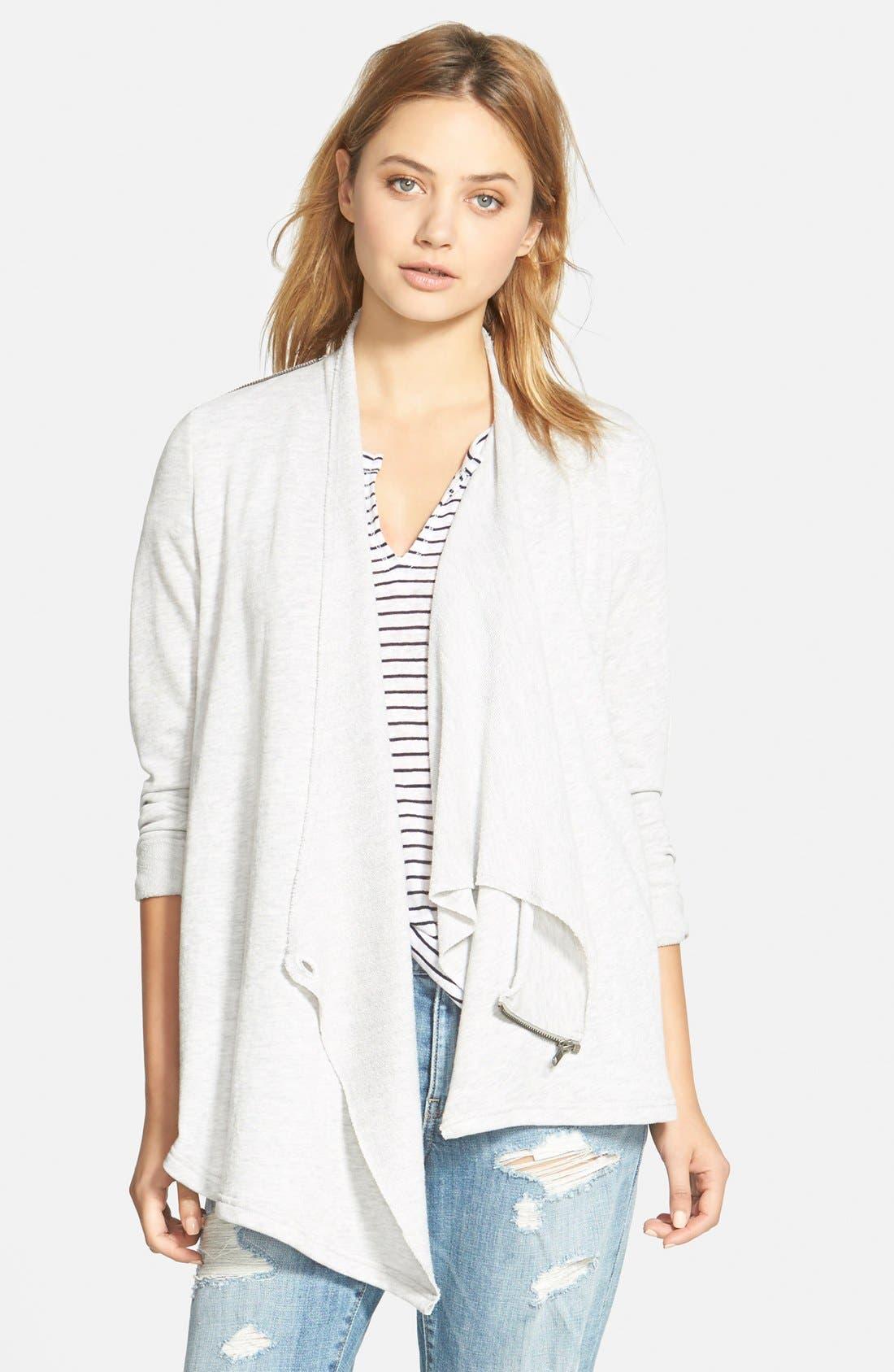 Alternate Image 1 Selected - Stem Shoulder Zip Cardigan