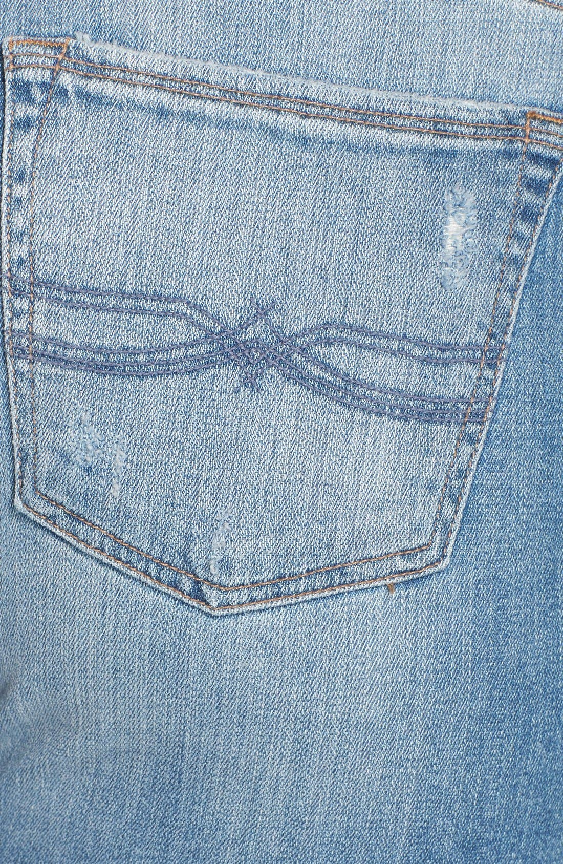 Alternate Image 4  - Lucky Brand 'Reese' Ripped Boyfriend Jeans (San Marcos) (Plus Size)