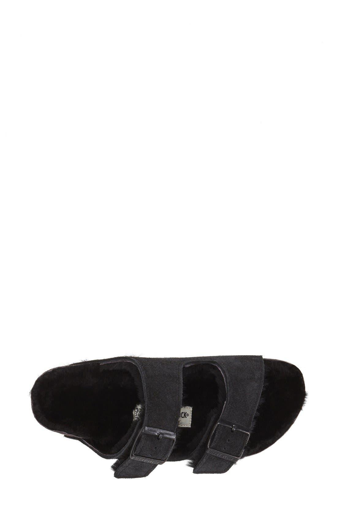Alternate Image 3  - Birkenstock 'Arizona' Genuine Shearling Lined Sandal (Women)