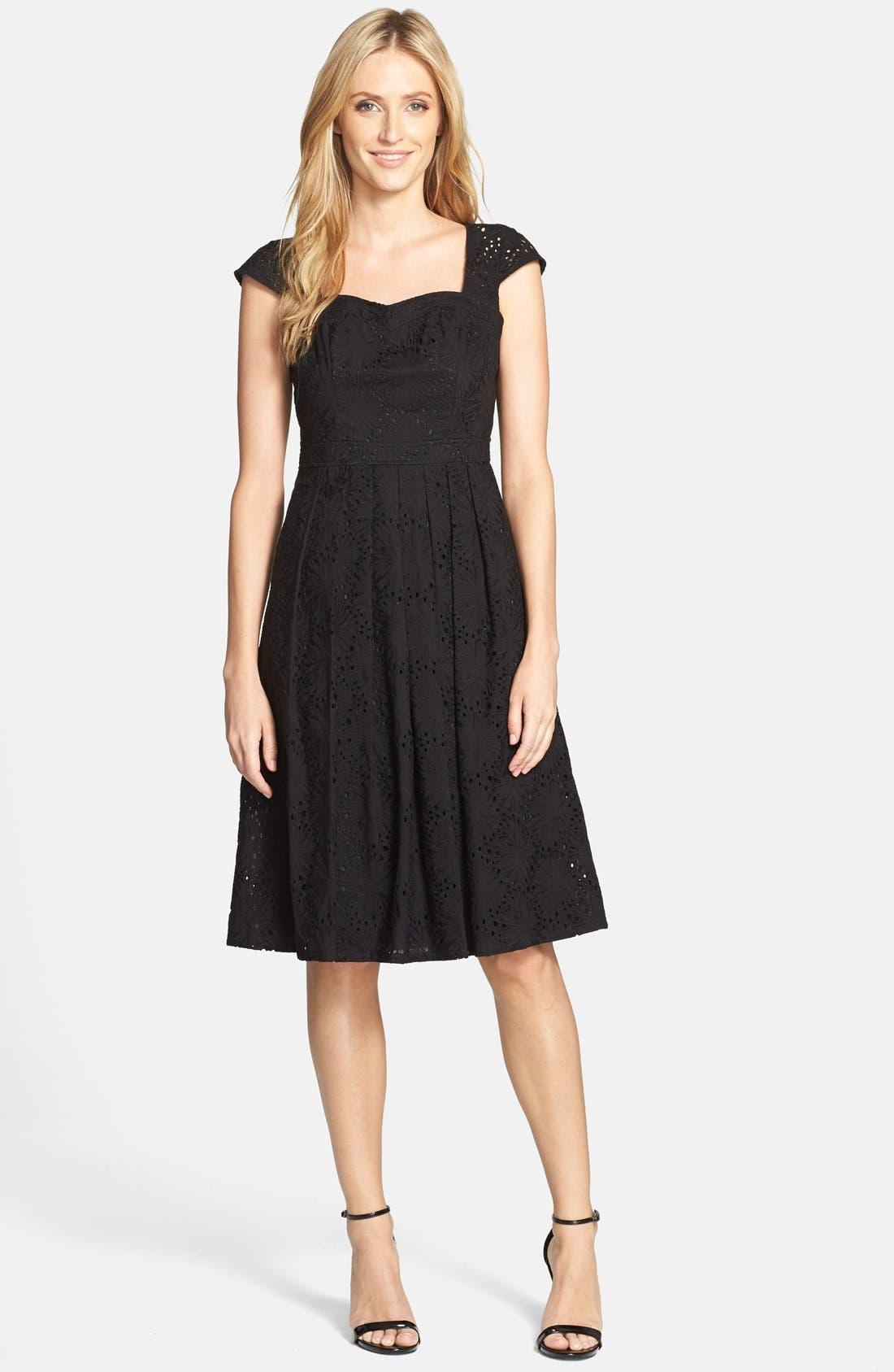 Alternate Image 3  - Adrianna Papell Eyelet Fit & Flare Dress