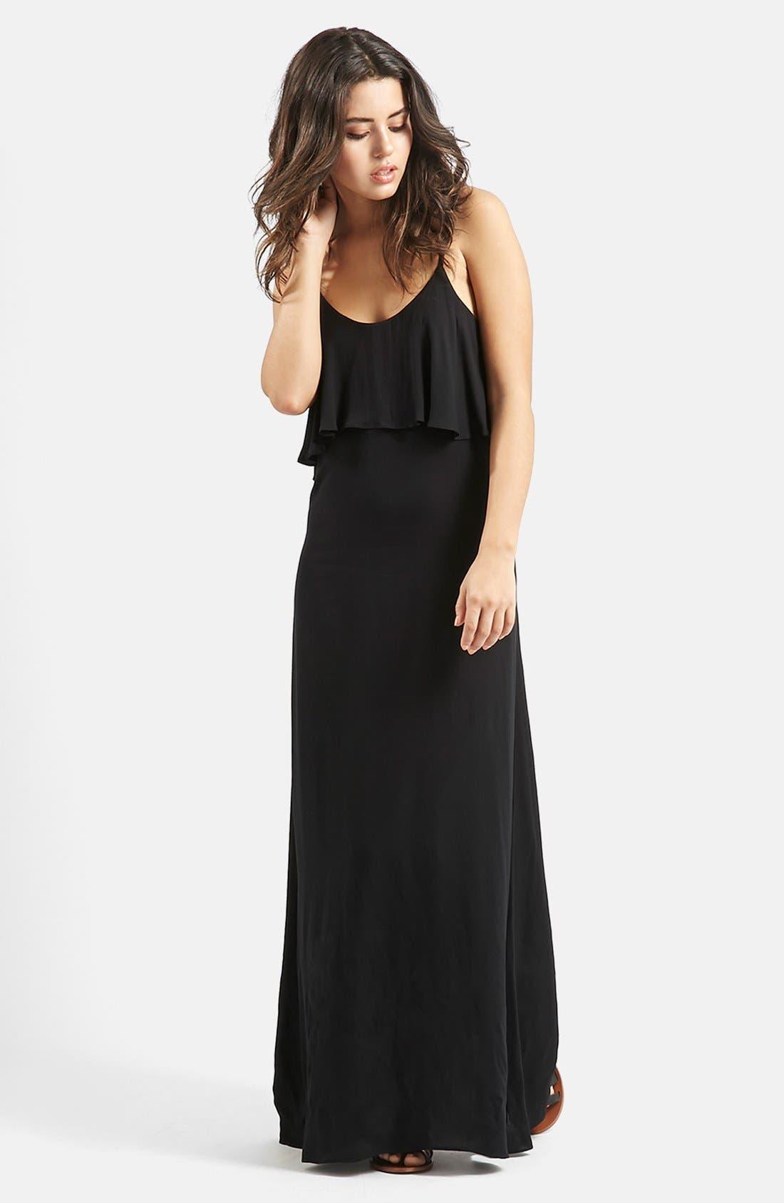 Main Image - KENDALL + KYLIE at Topshop Layered Maxi Dress
