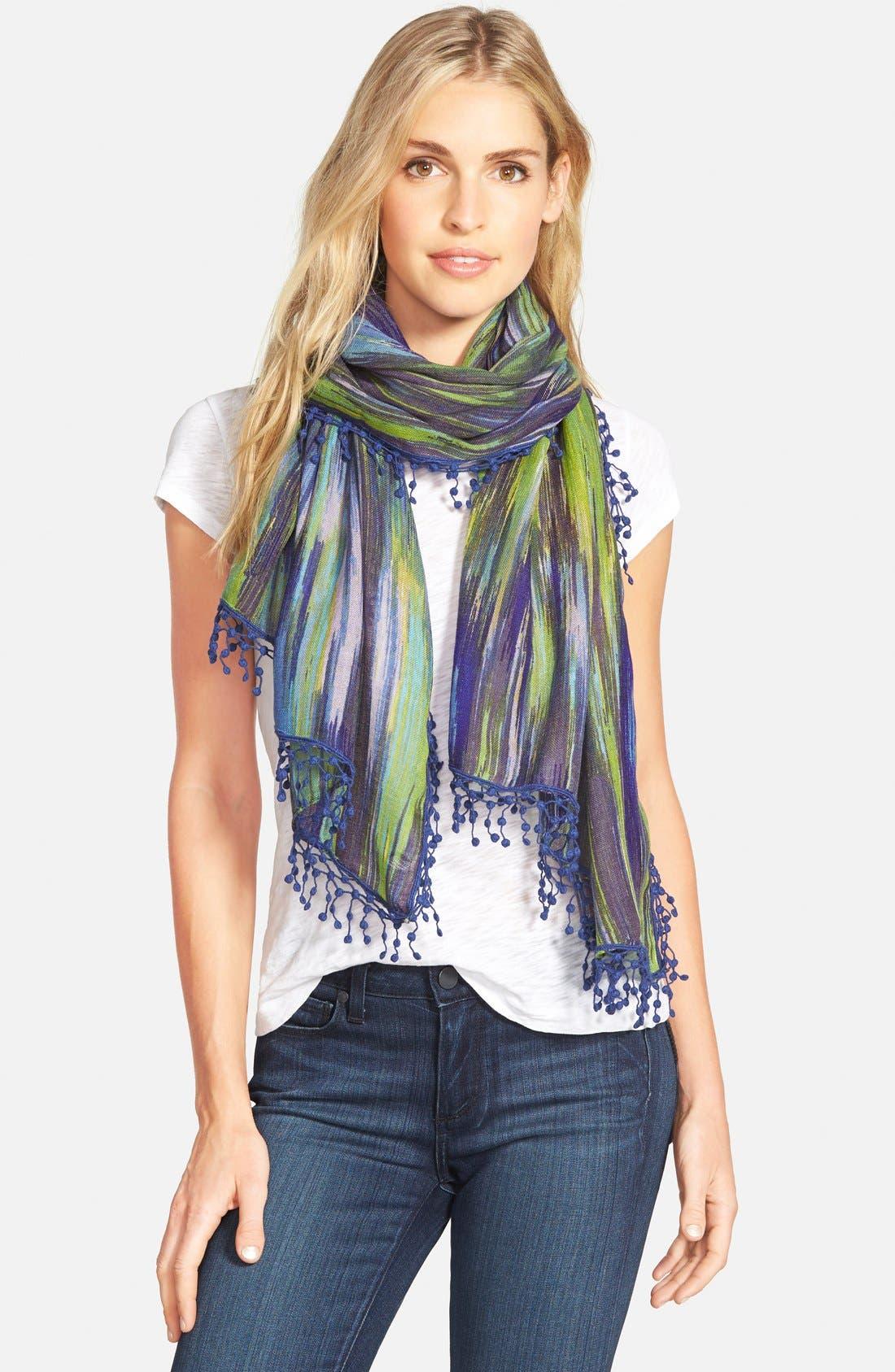 La Fiorentina Ikat Print Wool Scarf