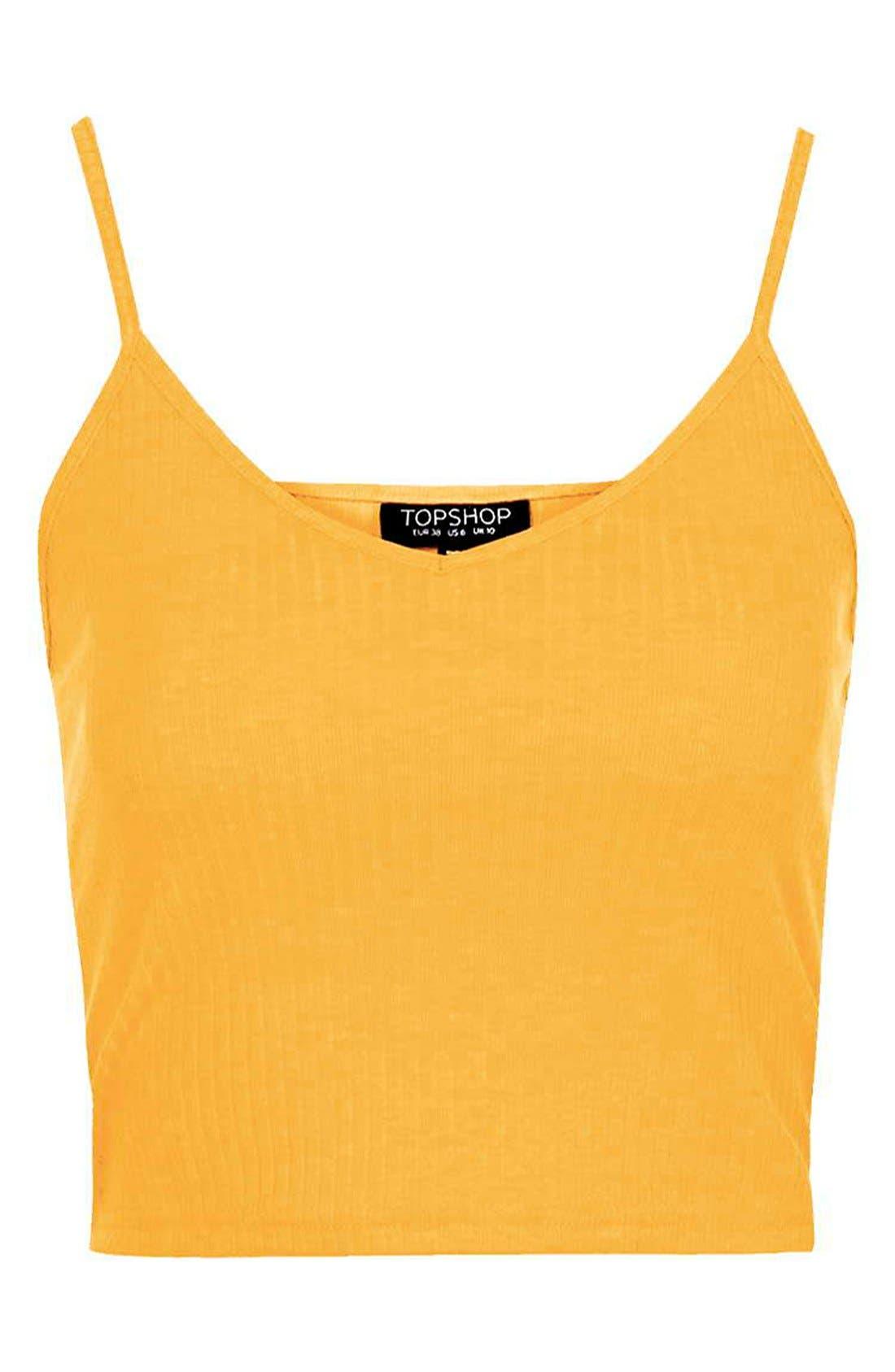 Alternate Image 5  - Topshop Ribbed Crop Camisole