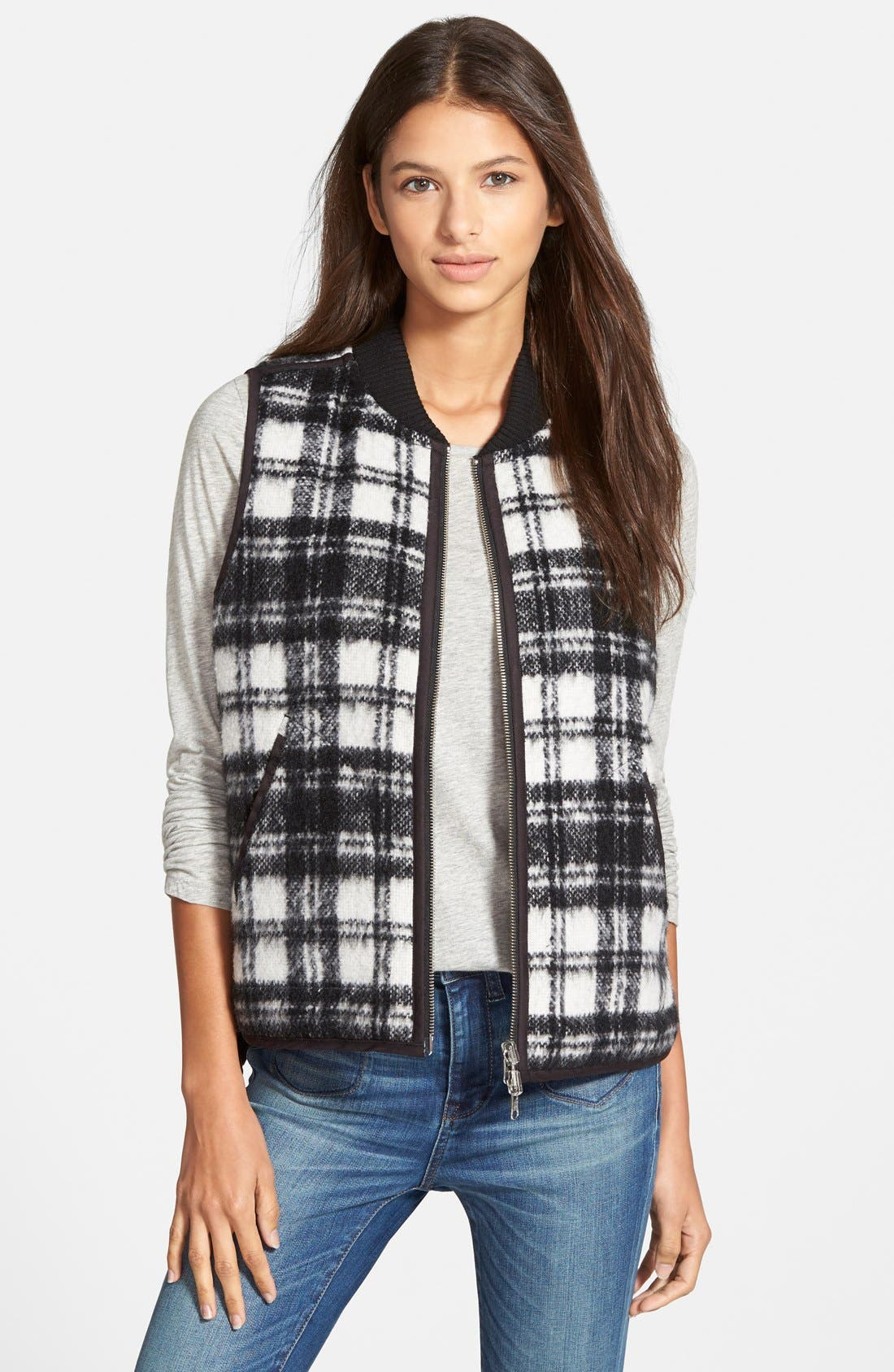 Alternate Image 1 Selected - Madewell'Copeland Plaid' Reversible Vest