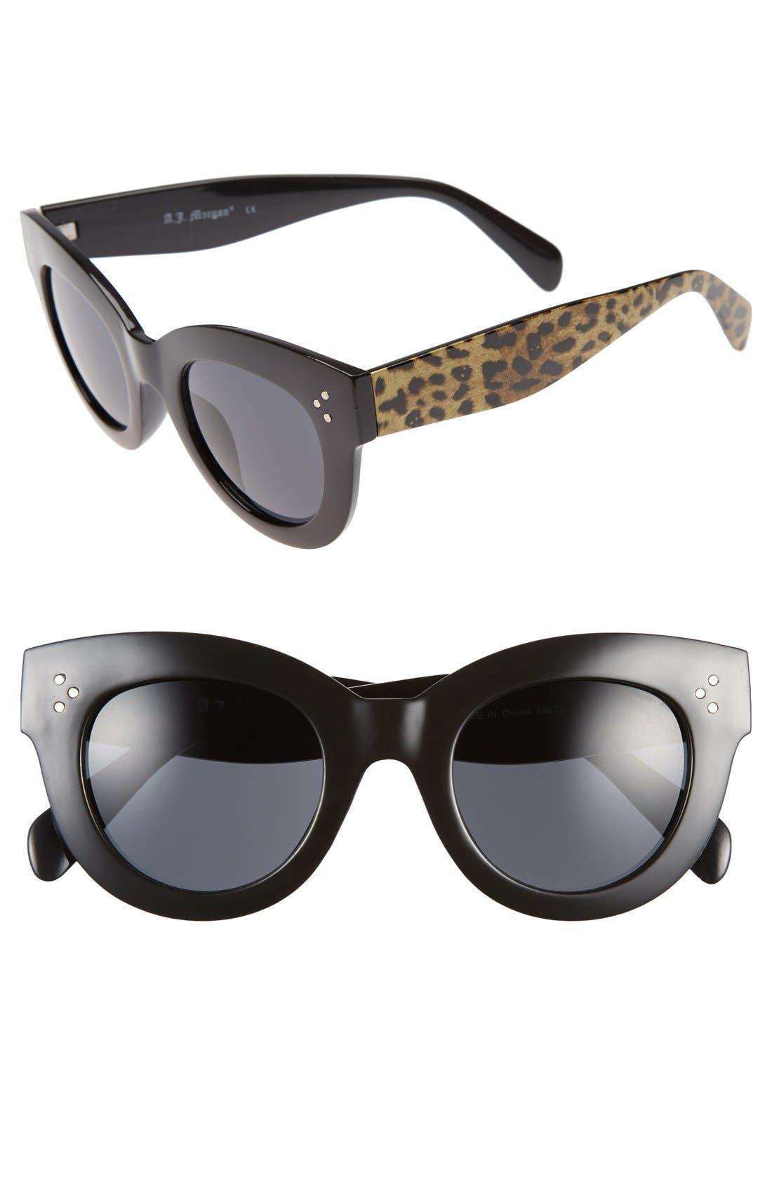 Main Image - A.J. Morgan 'Kitty' 54mm Oversized Cat Eye Sunglasses