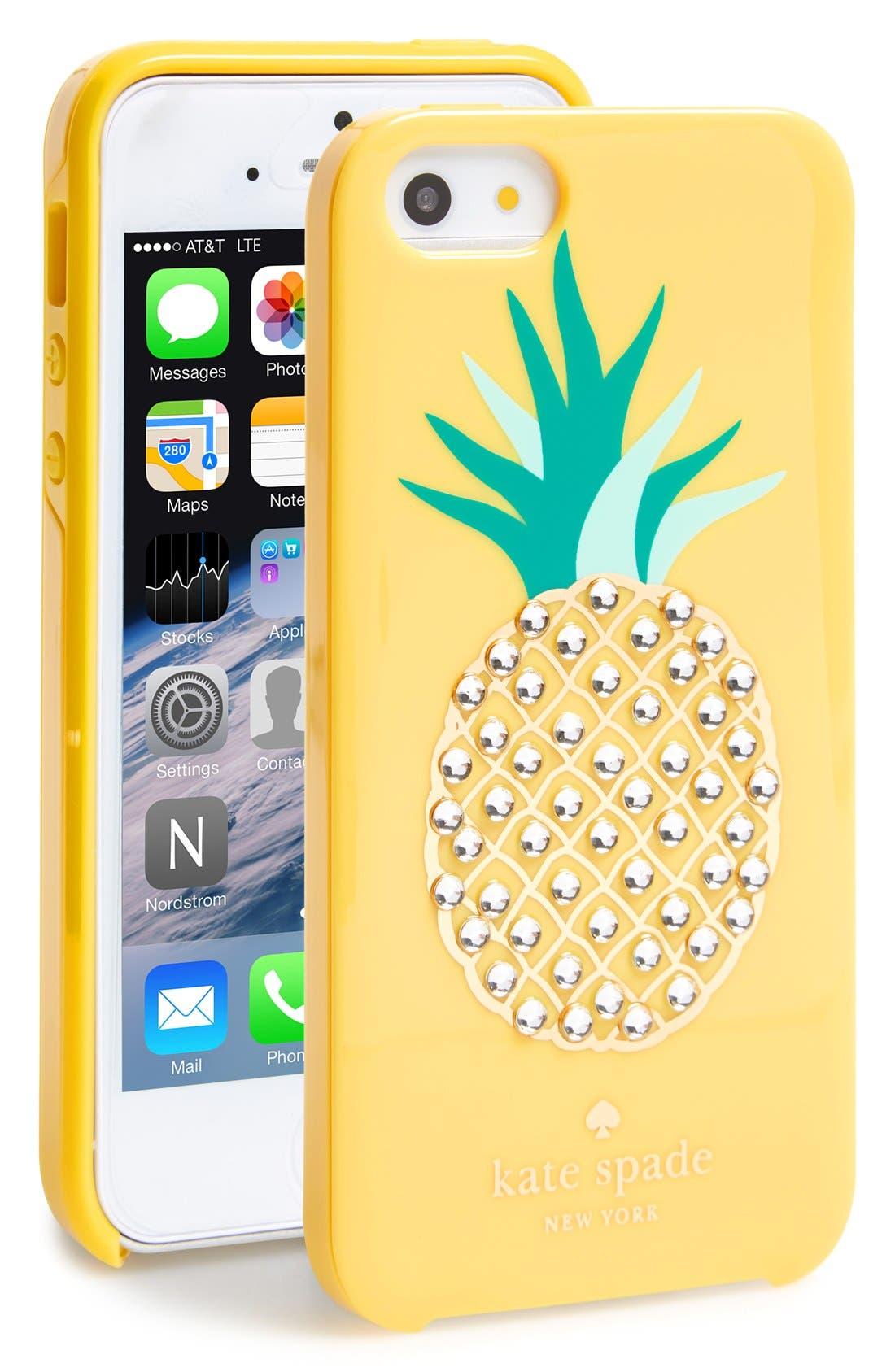 Main Image - kate spade new york 'pineapple' iPhone 5 & 5s case