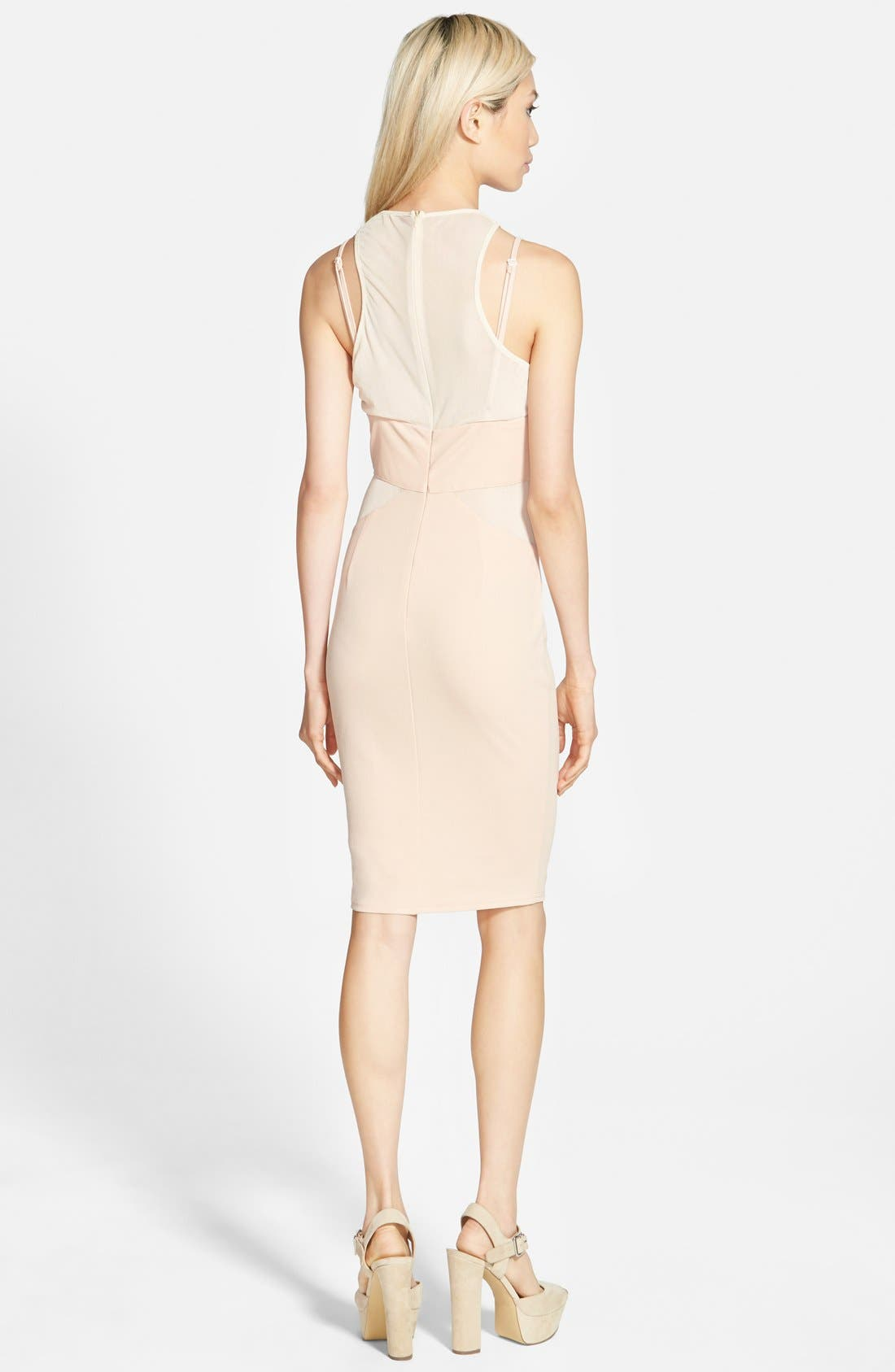 Alternate Image 2  - Missguided Strappy Panel Midi Dress