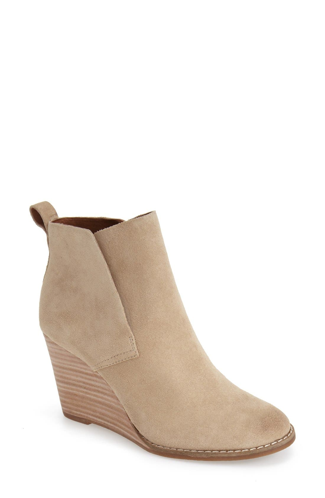 Alternate Image 1 Selected - Lucky Brand 'Yoniana' Wedge Bootie (Women)