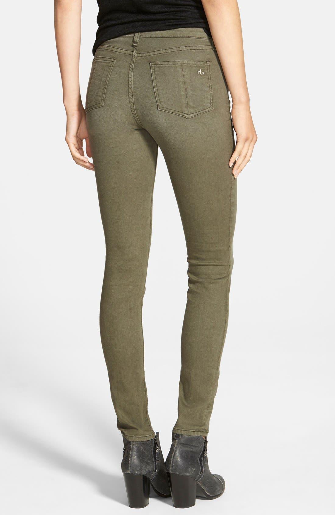 Alternate Image 2  - rag & bone/JEAN 'The Skinny' Jeans (Distressed Fatigue) (Nordstrom Exclusive)