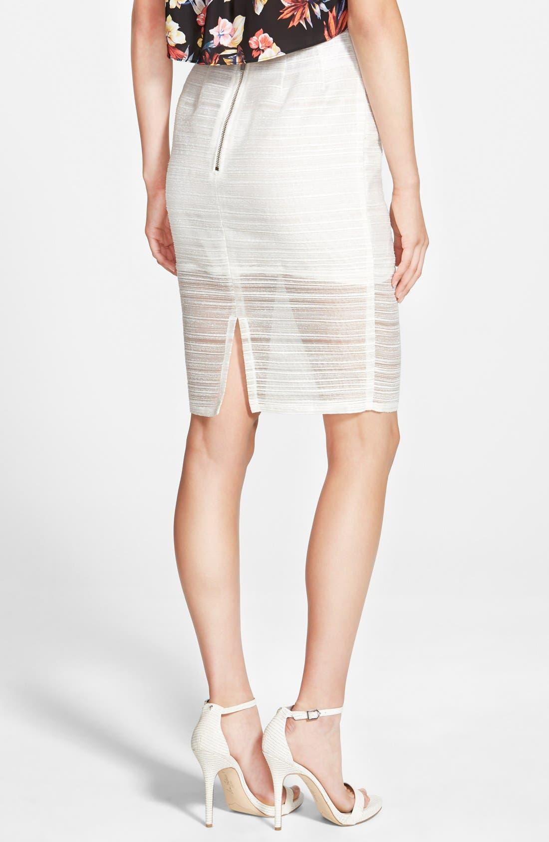Alternate Image 2  - Whitney Eve 'Mosquito Bay' Pencil Skirt