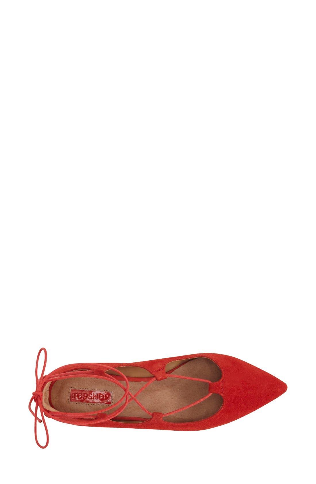 Alternate Image 3  - Topshop 'Leather Kingdom' Pointy Toe Flat (Women)