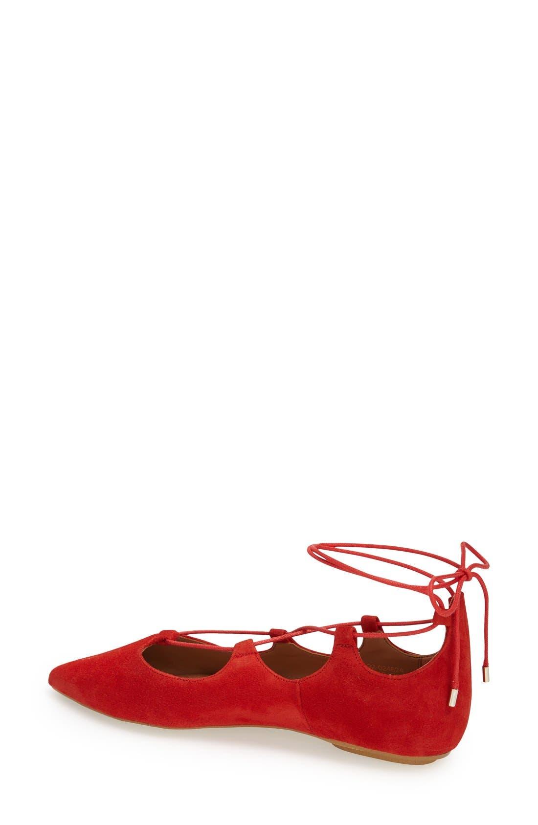Alternate Image 2  - Topshop 'Leather Kingdom' Pointy Toe Flat (Women)