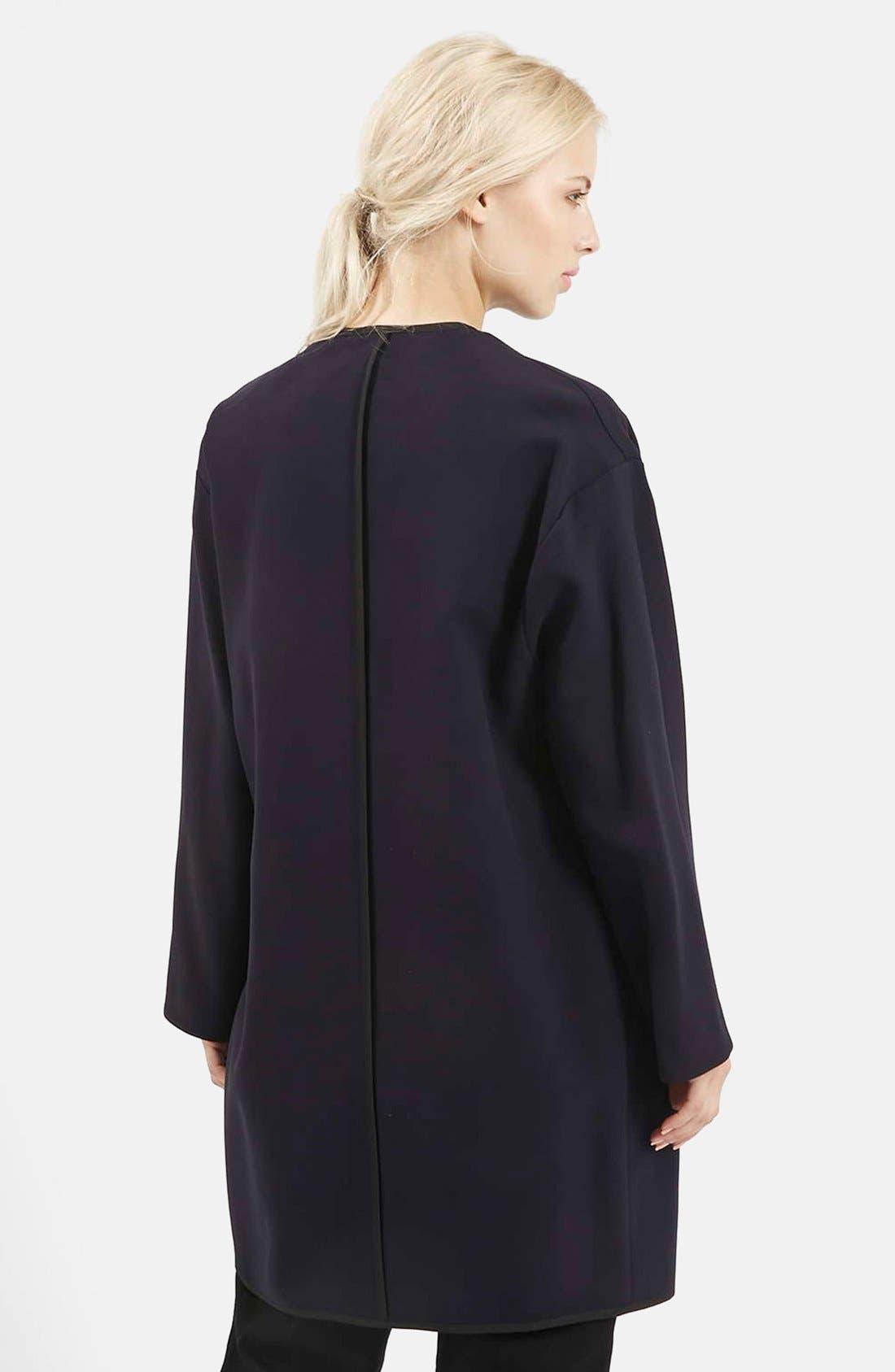 Alternate Image 2  - Topshop 'Edge to Edge' Blanket Coat
