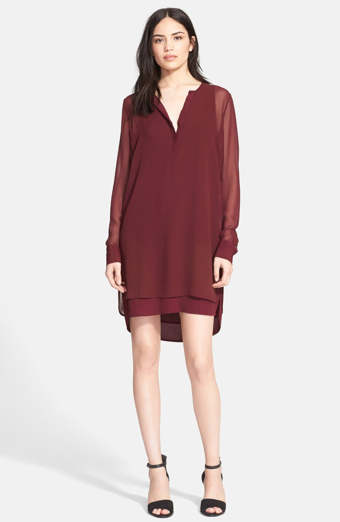 Alternate Image 1 Selected - Vince Double Layer Shirtdress