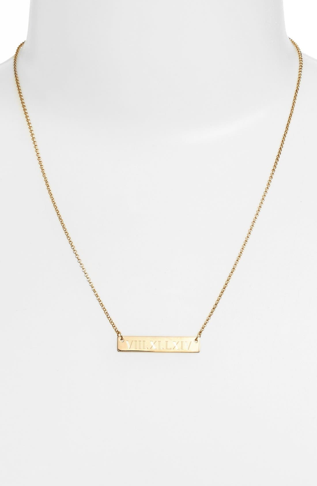 Alternate Image 2  - Argento Vivo Roman Numeral Bar Pendant Necklace
