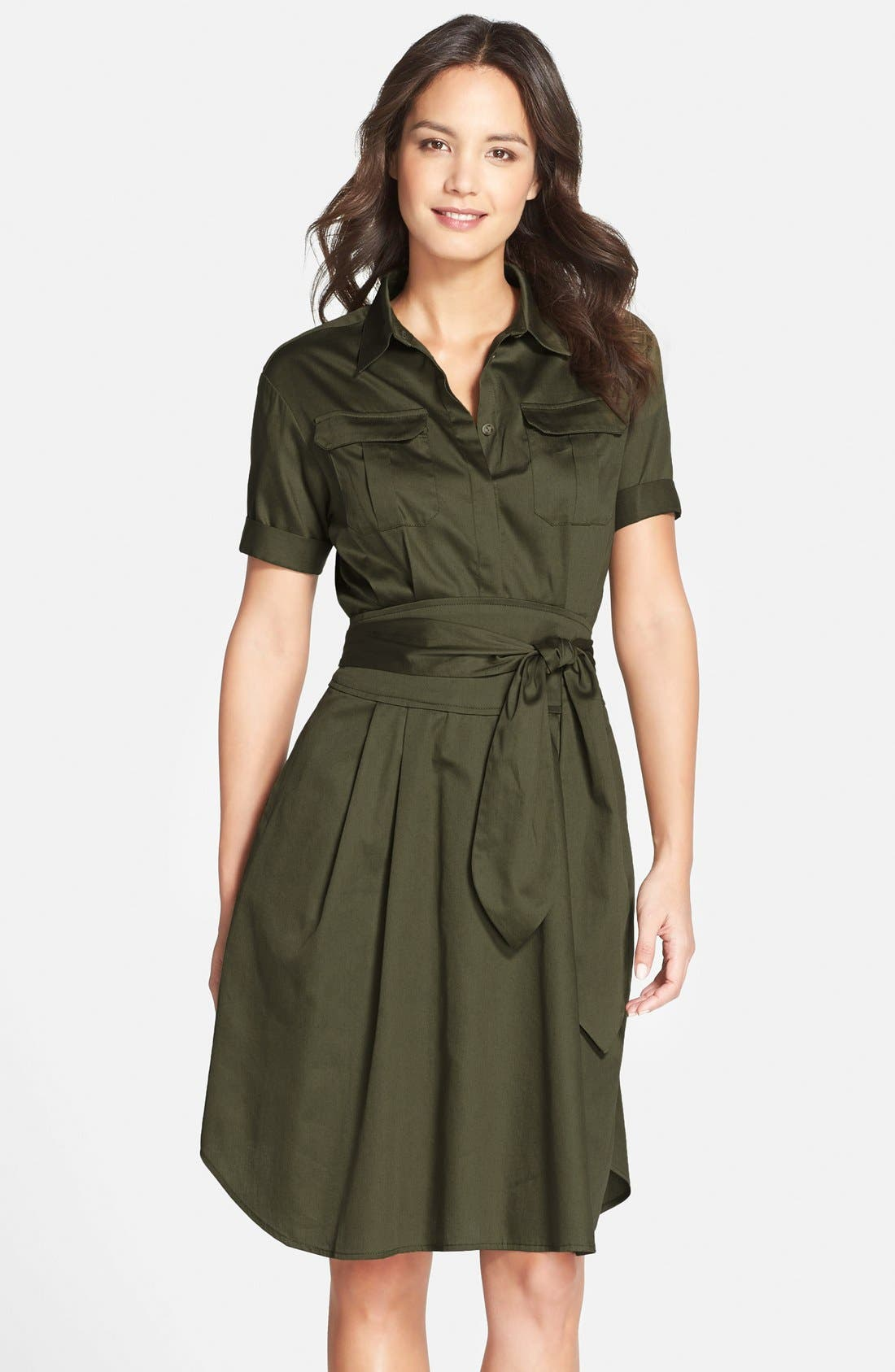 Alternate Image 1 Selected - Cynthia Steffe Maya Belted Shirtdress (Nordstrom Exclusive)