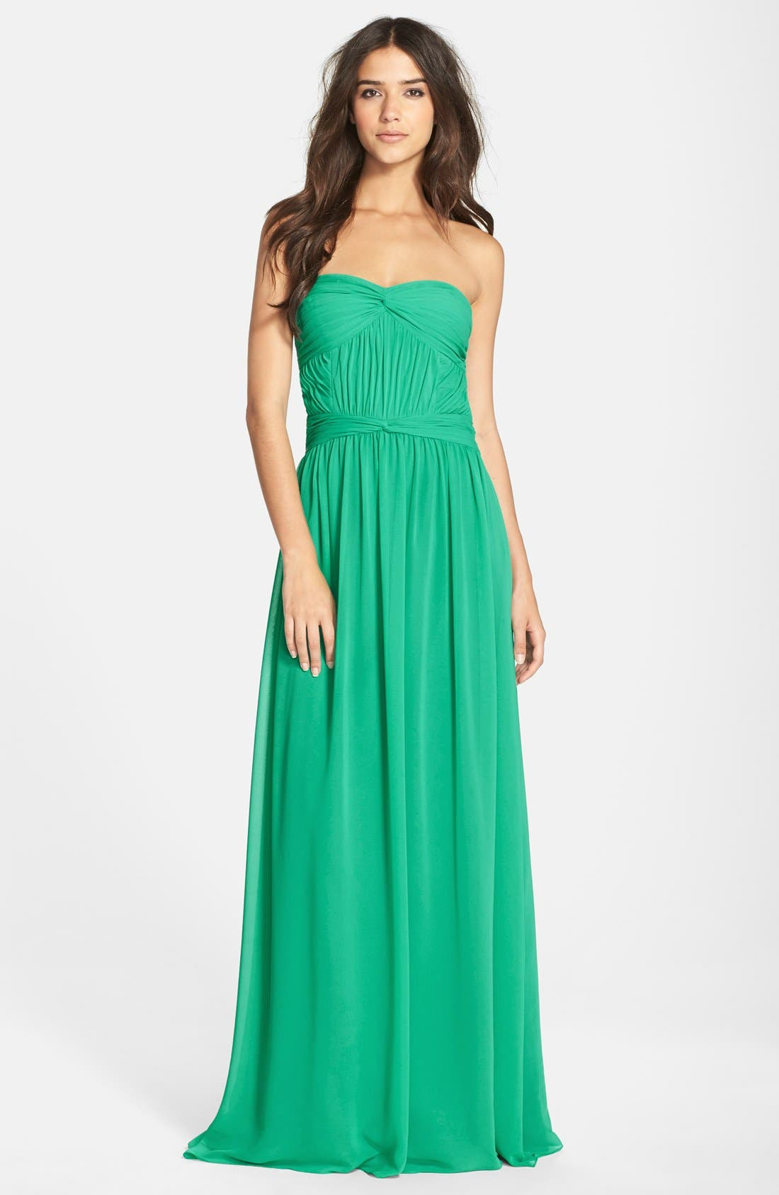 Main Image - Hailey by Adrianna Papell Chiffon Fit & Flare Gown