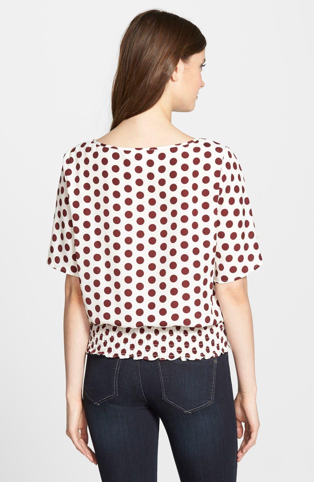 Alternate Image 2  - MICHAEL Michael Kors'Ana' Dot Print Kimono Sleeve Top