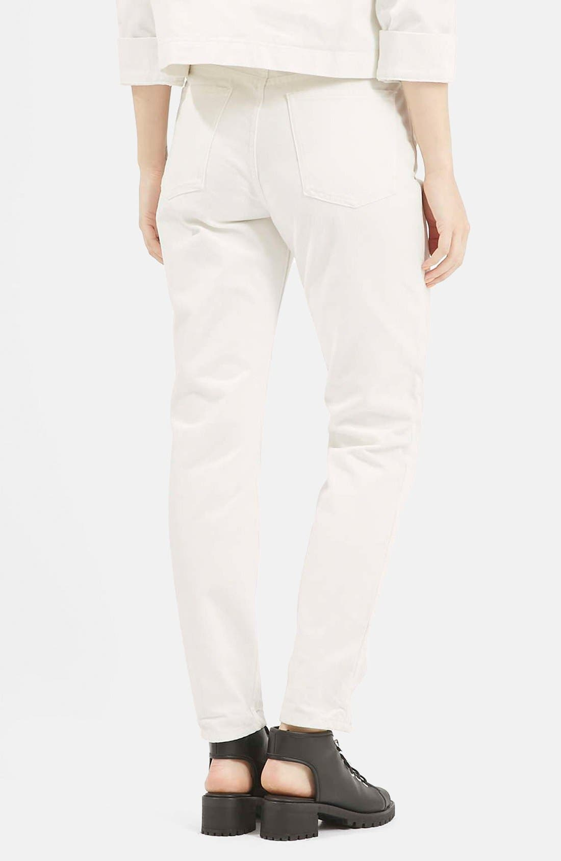 Alternate Image 2  - Topshop Boutique Slim Leg Jeans (Cream)