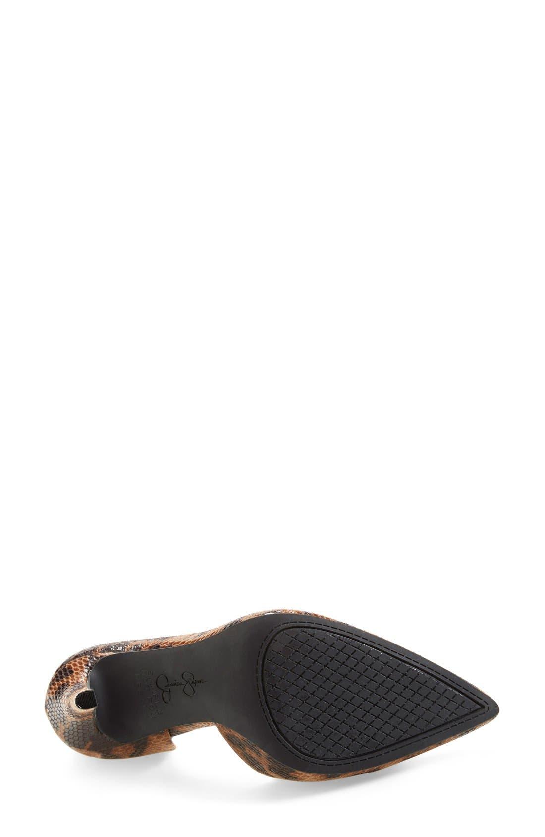 Alternate Image 4  - Jessica Simpson 'Claudette' Half d'Orsay Pump
