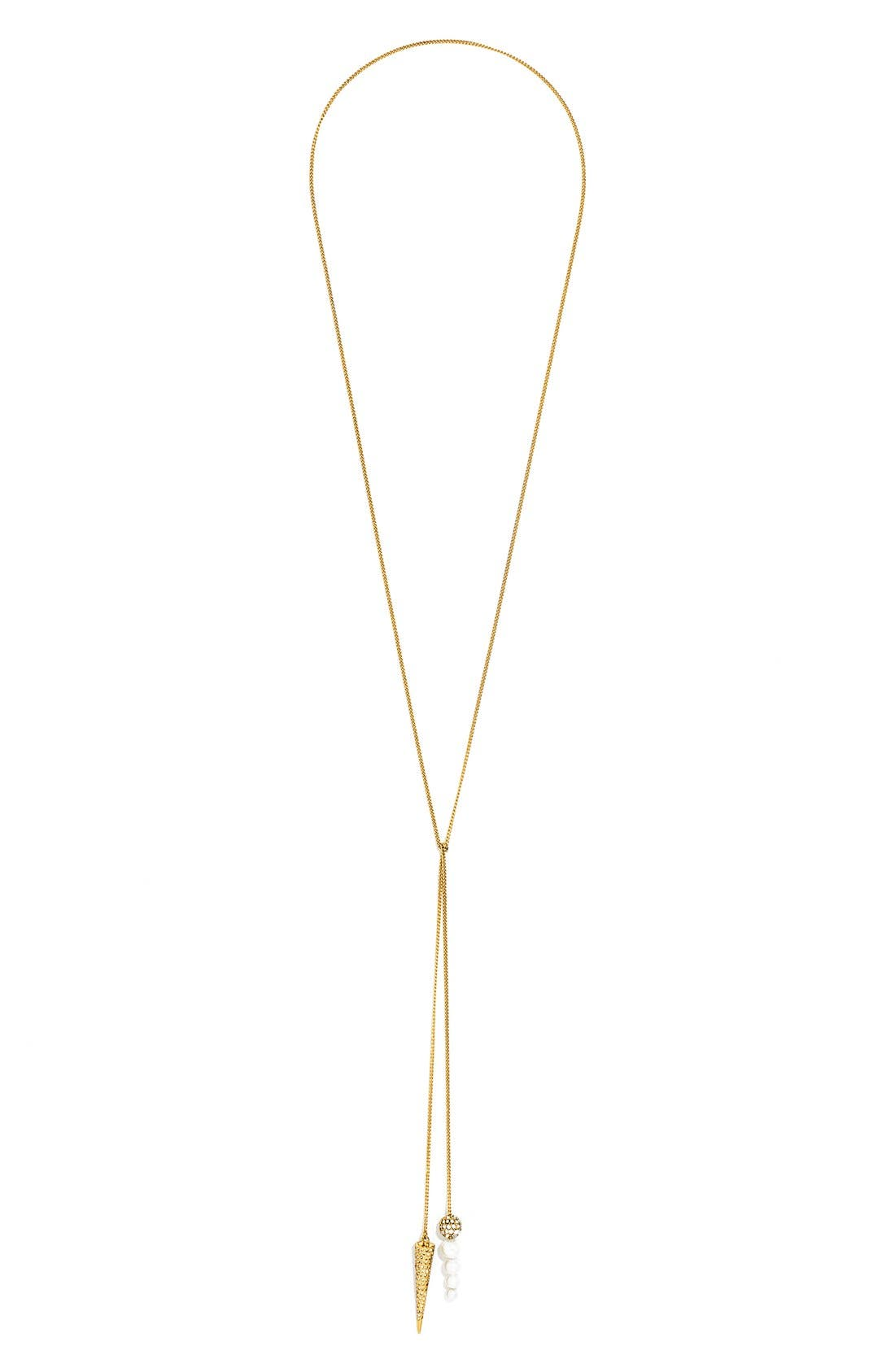 Main Image - BaubleBar 'Double Tail' Y-Chain Necklace
