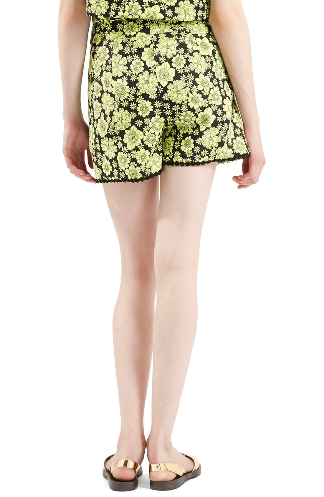 Alternate Image 2  - Topshop Archive Collection ''60s Floral Psyche' High Rise Shorts