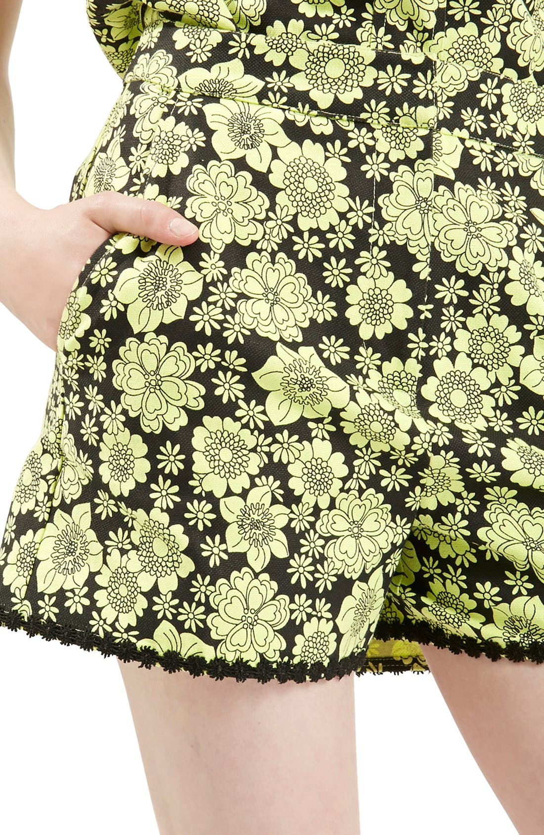 Alternate Image 3  - Topshop Archive Collection ''60s Floral Psyche' High Rise Shorts