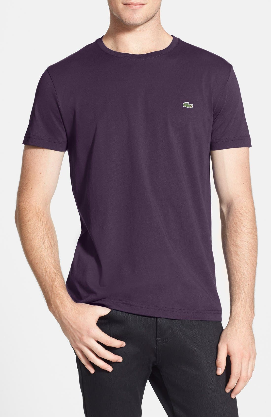 Main Image - Lacoste Pima Cotton Crewneck T-Shirt