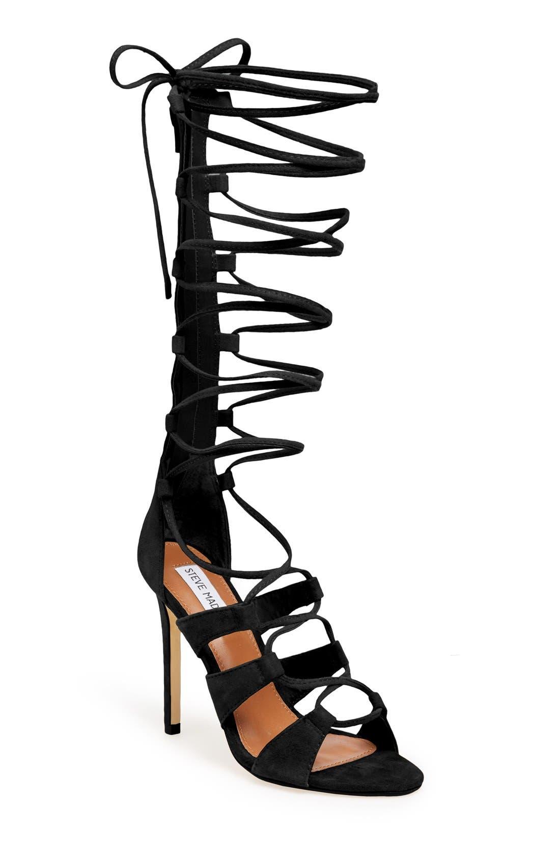 Alternate Image 1 Selected - Steve Madden 'Faroh' Lace-Up Sandal (Women)