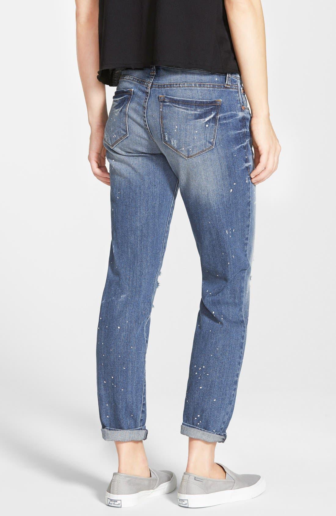 Alternate Image 2  - STS Blue 'Joey' Distressed Splatter Boyfriend Jeans
