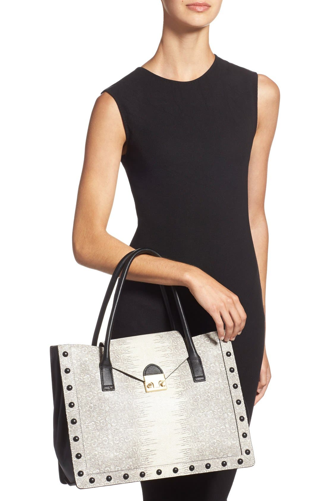 Alternate Image 2  - Loeffler Randall 'Work' Lizard Embossed Tote