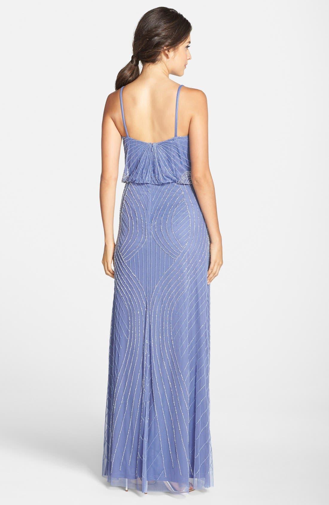 Alternate Image 2  - Adrianna Papell Beaded Blouson Maxi Dress